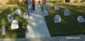 Halloween Tombstones from recycled boxes - Organized 31