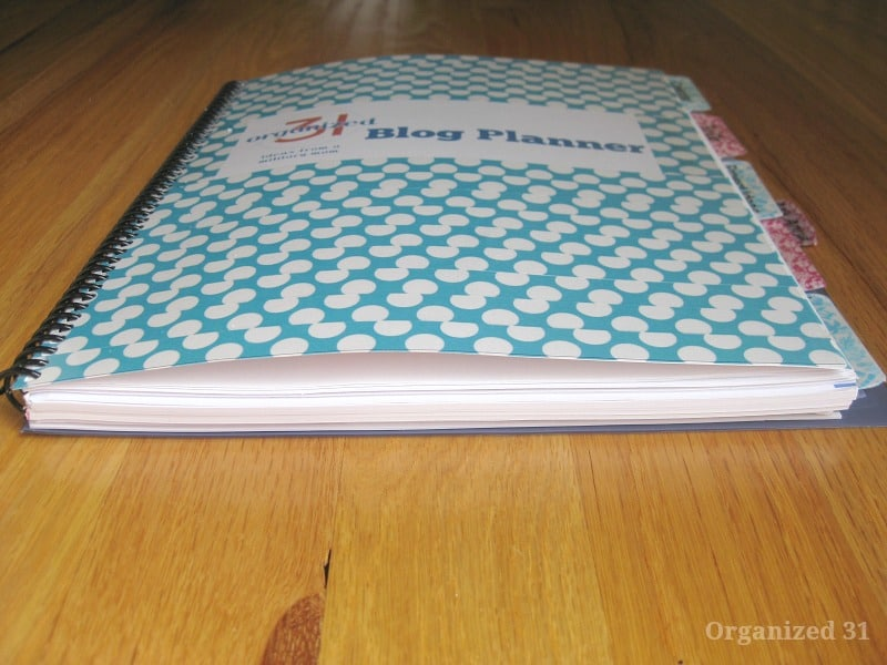 DIY Blog Planner - Organized 31