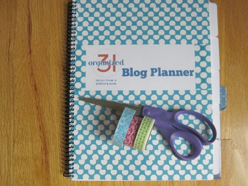DIY Blog Planner - Organized 31