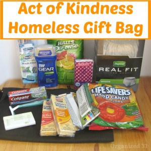 Act of Kindness Homeless Gift Bag - Organized 31