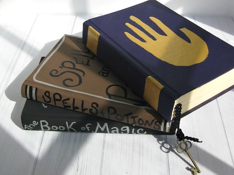 Recycled Book Halloween Decoration