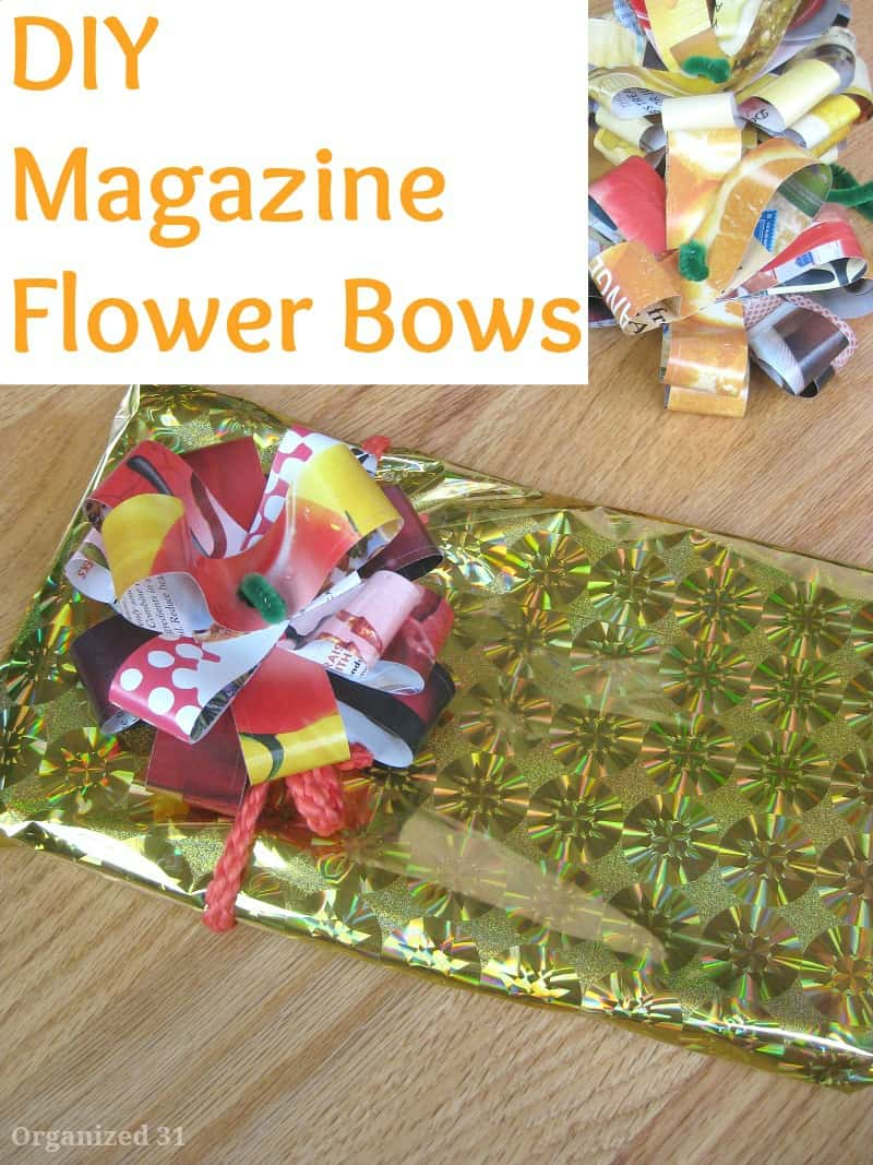 Magazine Flower Bows - Organized 31