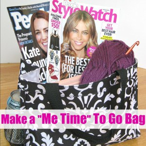 "Make a ""Me Time"" To Go Bag - Organized 31 #MeTimeMags #weavemade #ad"
