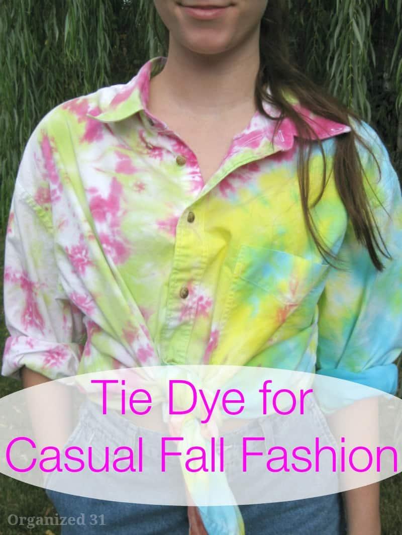 Tie Dye Casual Fall Fashion - Organized 31
