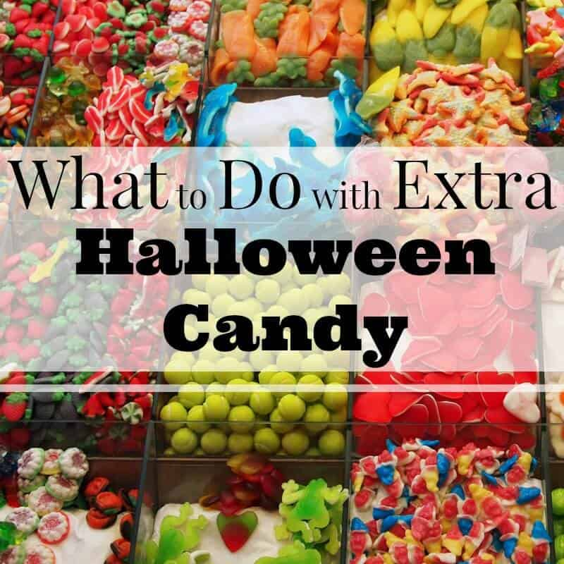 Wall of different candy with text overlay