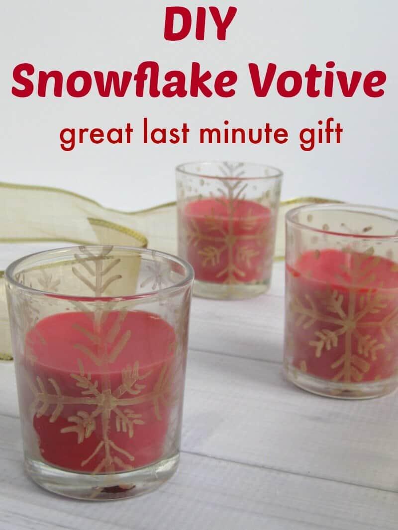 DIY Snowflake Votive - Organized 31 Gifts Diy & Crafts