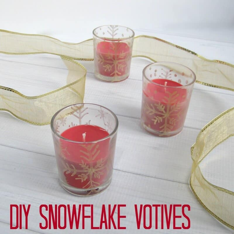 DIY Snowflake Votive - Organized 31 Gifts Diy & Crafts