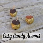 Easy Candy Acorns