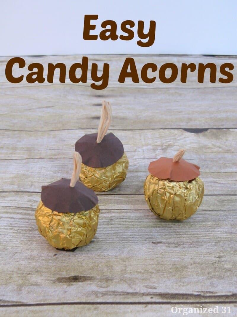 Easy Candy Acorns - Organized 31