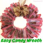 Easy Candy Wreath - Organized 31