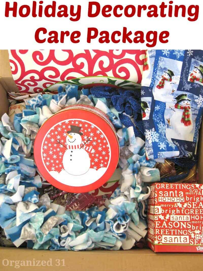 Holiday Decorating Care Package - Organized 31