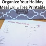 Organize a Holiday Meal Planner