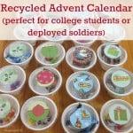 DIY Advent Calendar from Recycled Yogurt Cups