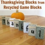 Thanksgiving Blocks from Repurposed Game Blocks