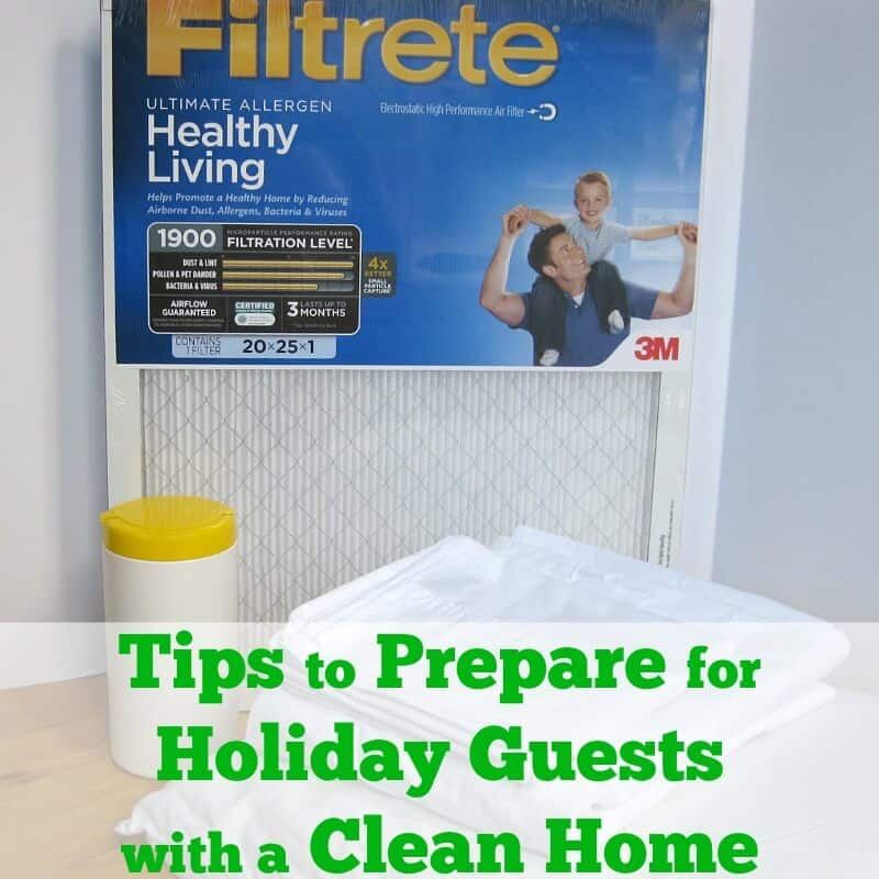 Tips to Prepare for Holiday Guests with a Clean Home - Organized 31 #HealthierHome #sponsored Products