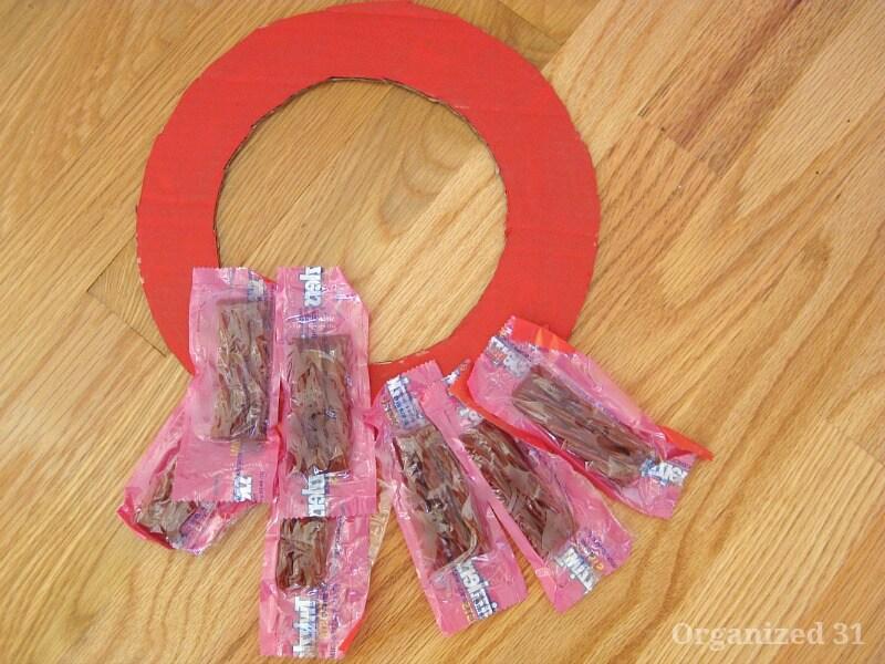 Easy Candy Wreath - Organized 31
