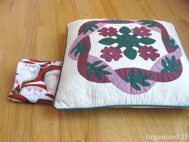 Christmas Pillow Slipcover - Organized 31