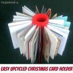 Upcycled Christmas Card Holder