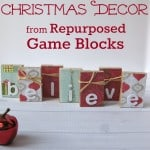 Christmas Decor from Repurposed Game Blocks