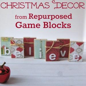 Christmas Decor from Repurposed Game Blocks - Organized 31
