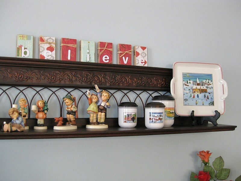 Christmas Decor with repurposed game blocks by Organized 31