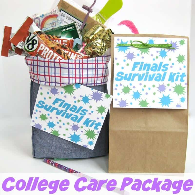 Make a college finals care package - Organized 31 #LoveV8Protein #Ad