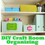 DIY Craft Room Organizing