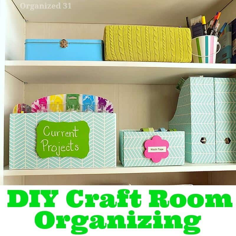 DIY Craft Room Organizing - Organized 31 #plaidcrafts #madewithMichaels #sponsored