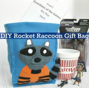 DIY Rocket Racoon Gift Bag & Organizing Bin - Organized 31 #OwntheGalaxy #Ad