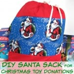 DIY Santa Sack for Christmas Toy Donations