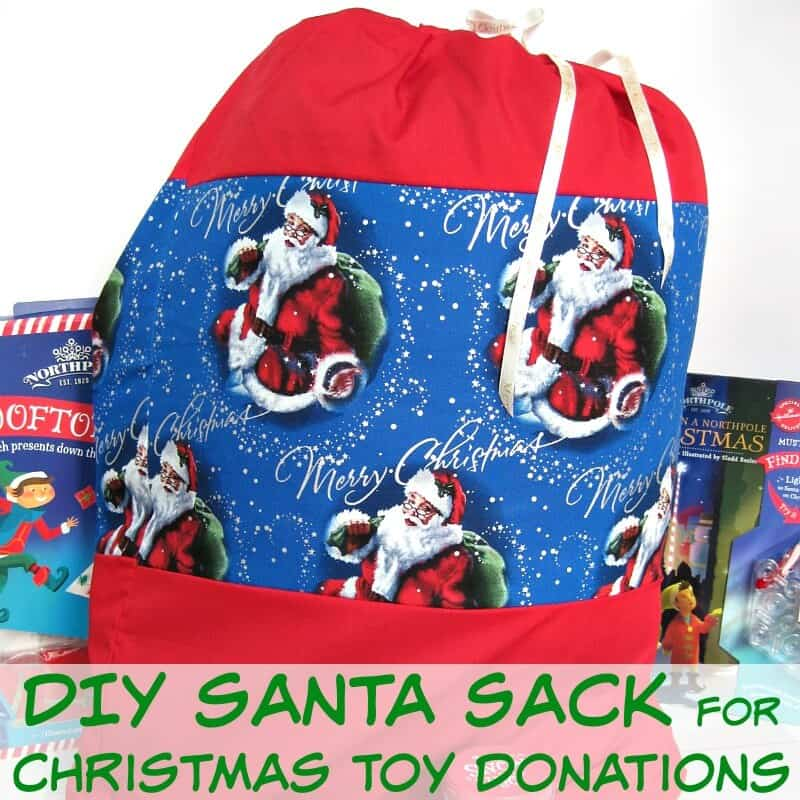 DIY Santa Sack - Organized 31 #NorthPoleFun #Ad