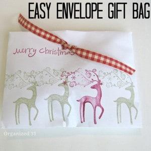 Easy Envelope Gift Bag - Organized 31