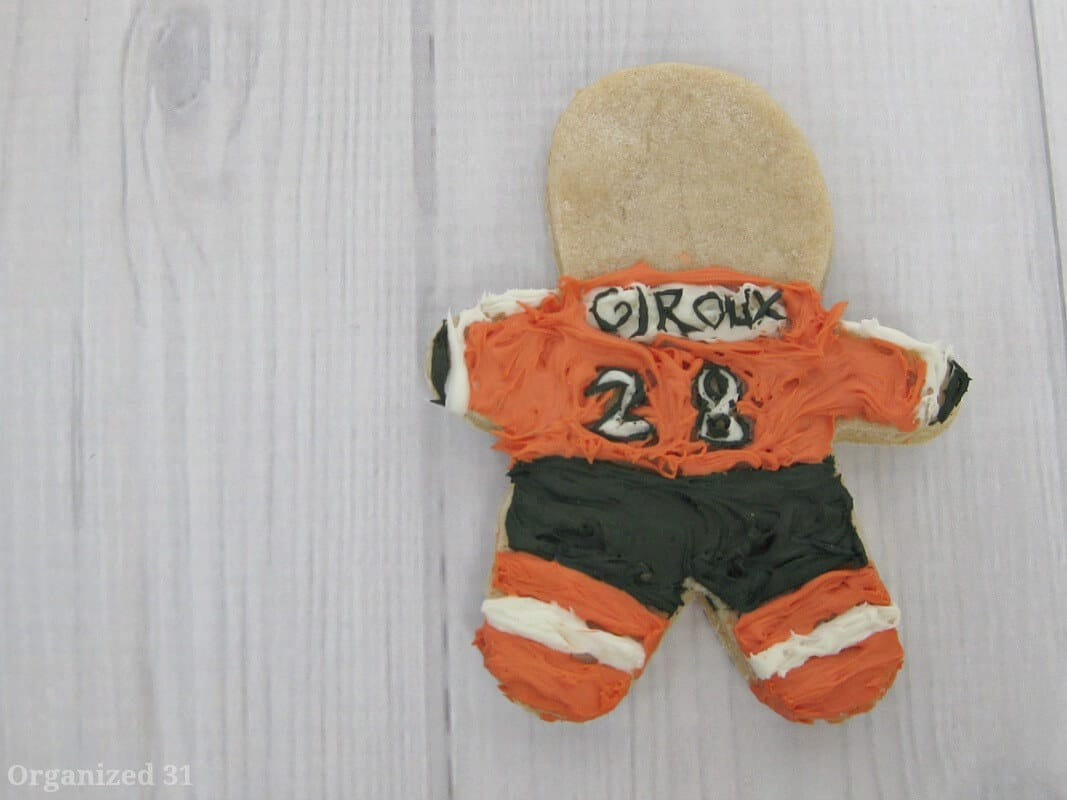 Giroux Philadelphia Flyers frosted cookie