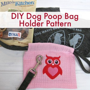 DIY Dog Poop Bag Holder Pattern - Organized 31 #TreatThePups #Ad