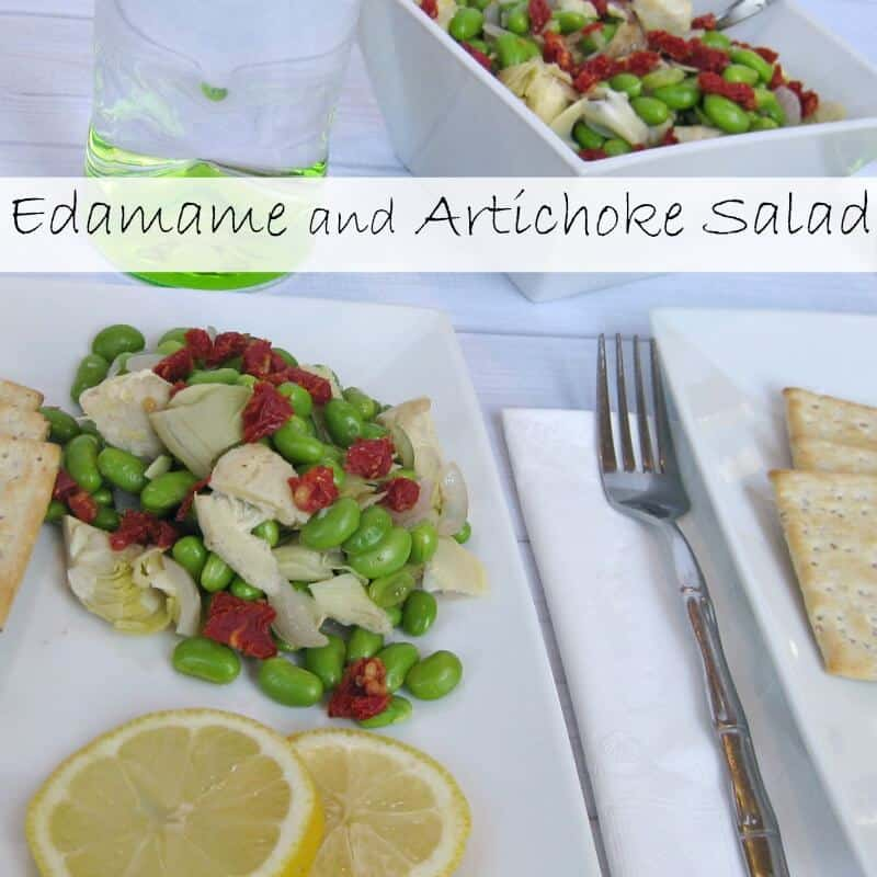 Edamame and Artichoke Salad - Organized 31 #sponsored