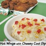 Hot Wings with Cheesy Cool Dip