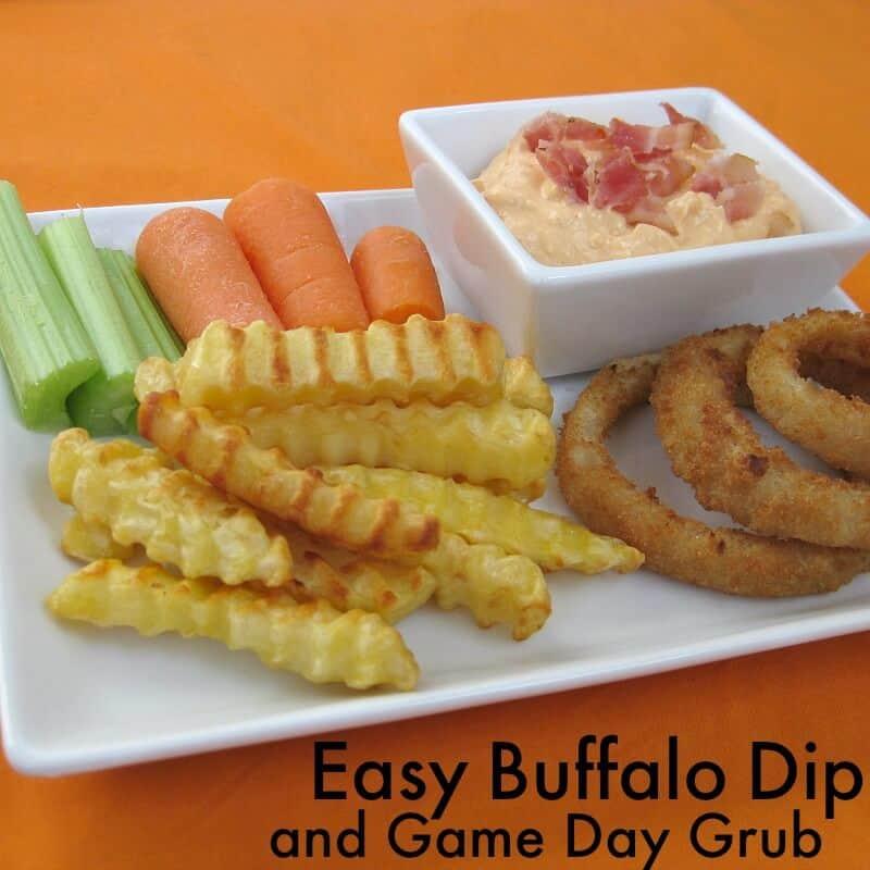 Easy Creamy Buffalo Dip - Organized 31 #Ad #GameTimeGrub