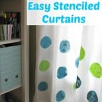 Easy Stenciled Curtains - Organized 31 #sponsored