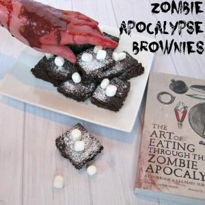 Zombie Apocalypse Brownies - Organized 31 #ZpocWinter #sponsored
