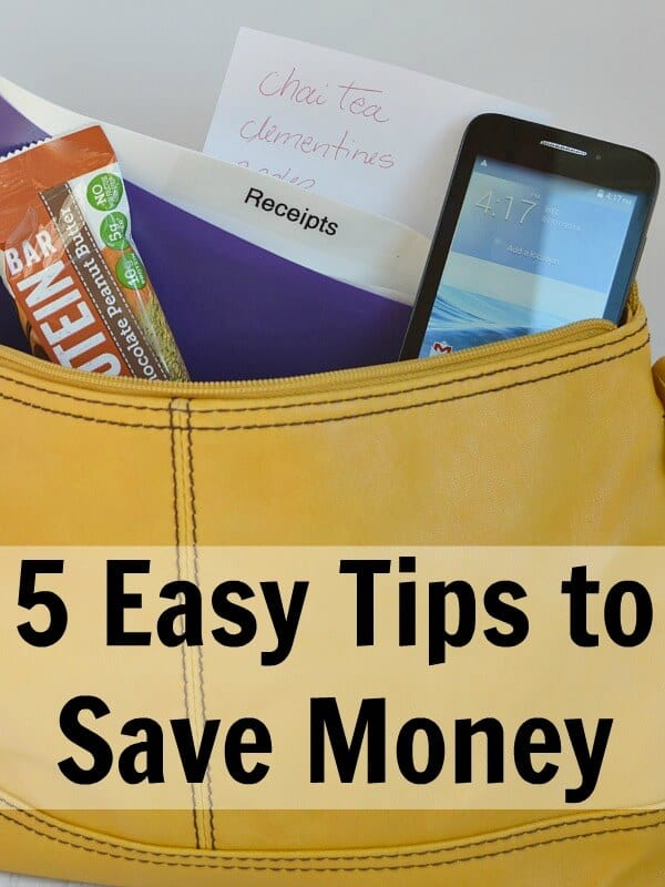 5 Easy Tips to Save Money - Organized 31 #MarchIntoSavings #Ad