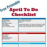 April To Do Checklist