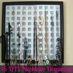 Organizing Necklaces DIY Repurposed Craft