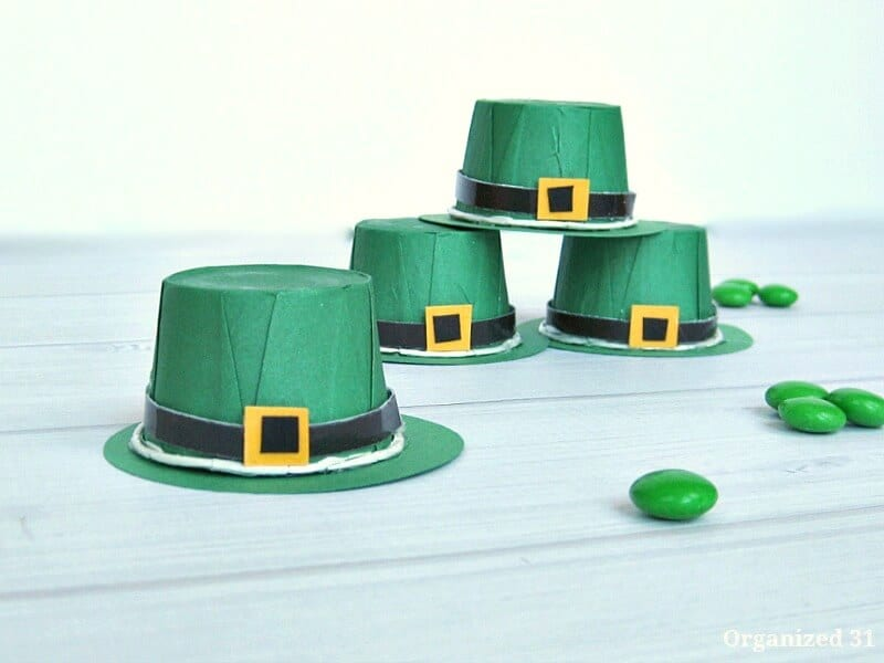Leprechaun Hat Treat Cups - Organized 31 DIY Crafts