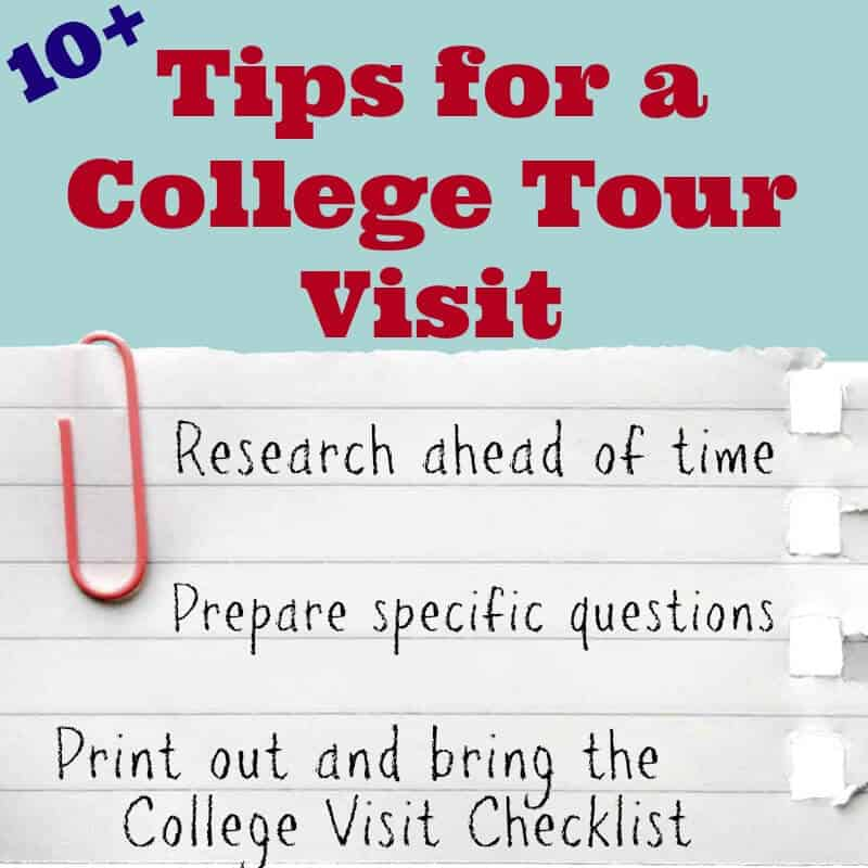 Tips for a College Tour Visit - Organized 31