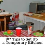 10+ Tips to Set Up a Temporary Kitchen (and enjoy it)