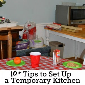 10+ Tips to set up a temporary Kitchen (and enjoy it) - Organized 31