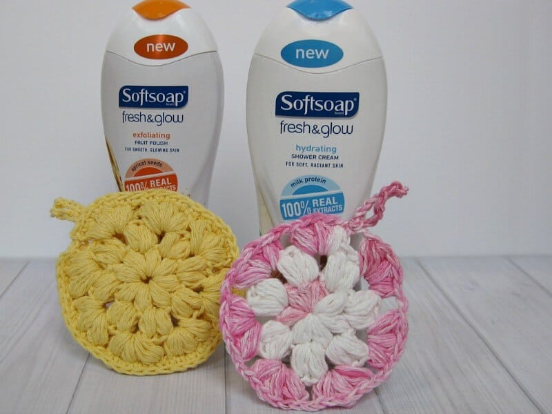 Crocheted Shower Pouf Pattern - Organized 31 #FreshAndGlow #Ad