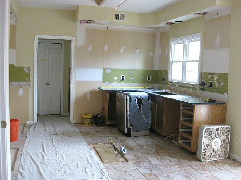 kitchen in mid renovation