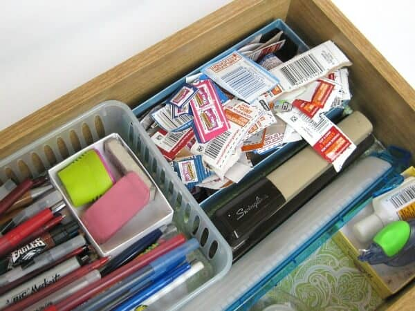 Organizing Box Tops for free with a recycled box - Organized 31