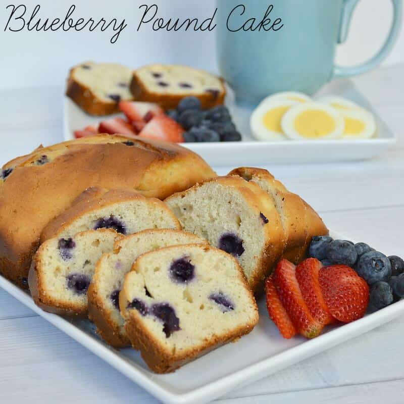... (in bed) surprise featuring blueberry pound cake? Maybe yourself